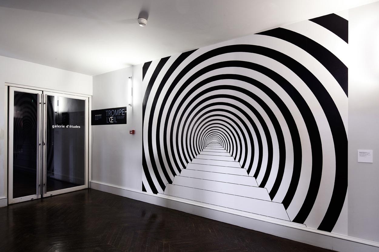 photo trompe l oeil sticker fentre trompe luoeil belle vue rf painted metal tent pool house. Black Bedroom Furniture Sets. Home Design Ideas